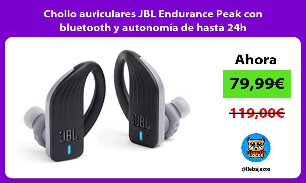Chollo auriculares JBL Endurance Peak con bluetooth y autonomia de hasta 24h
