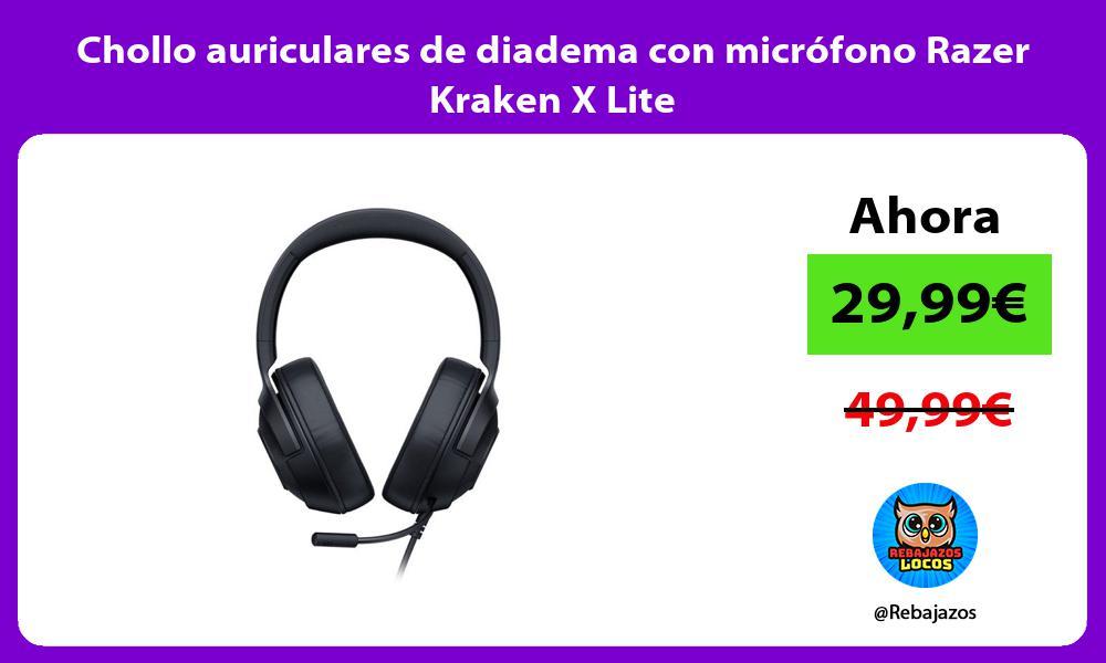 Chollo auriculares de diadema con microfono Razer Kraken X Lite