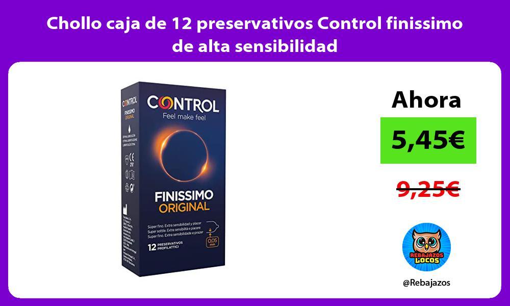 Chollo caja de 12 preservativos Control finissimo de alta sensibilidad