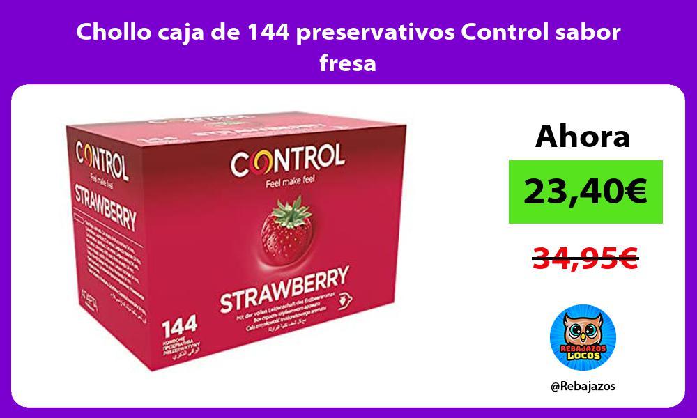 Chollo caja de 144 preservativos Control sabor fresa