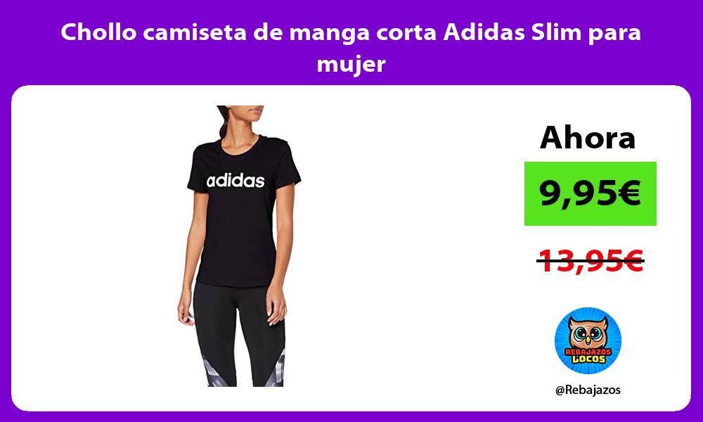 Chollo camiseta de manga corta Adidas Slim para mujer