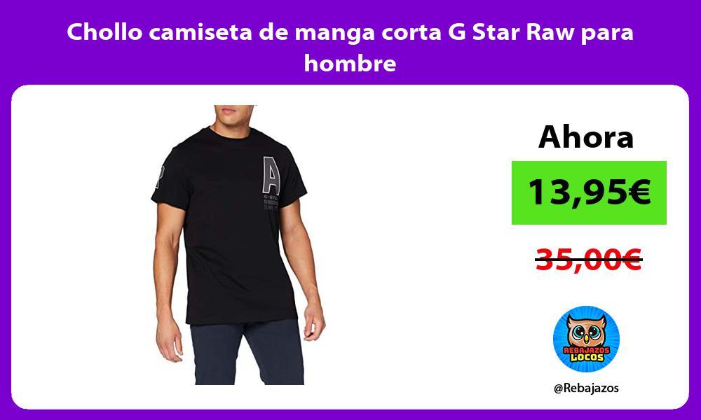 Chollo camiseta de manga corta G Star Raw para hombre