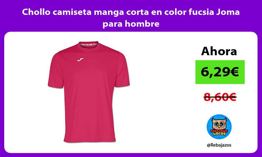 Chollo camiseta manga corta en color fucsia Joma para hombre