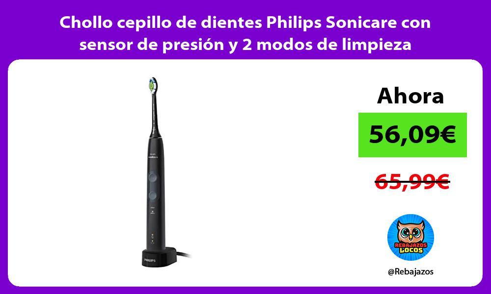 Chollo cepillo de dientes Philips Sonicare con sensor de presion y 2 modos de limpieza
