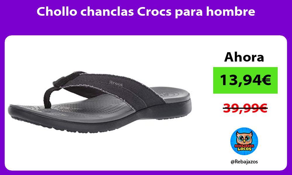 Chollo chanclas Crocs para hombre