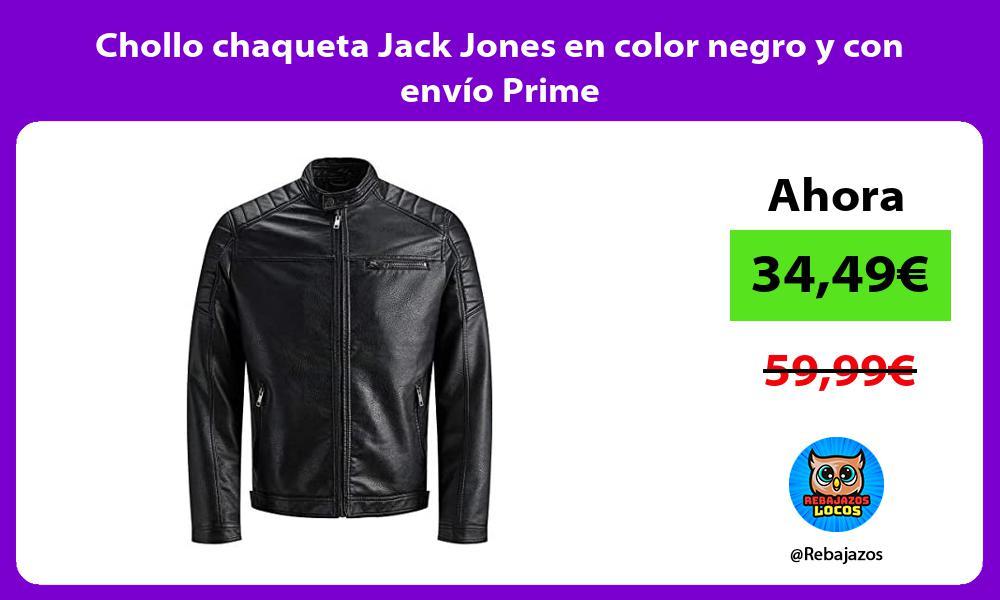 Chollo chaqueta Jack Jones en color negro y con envio Prime