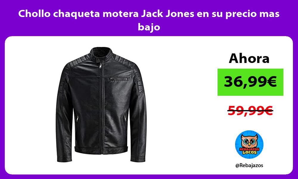 Chollo chaqueta motera Jack Jones en su precio mas bajo