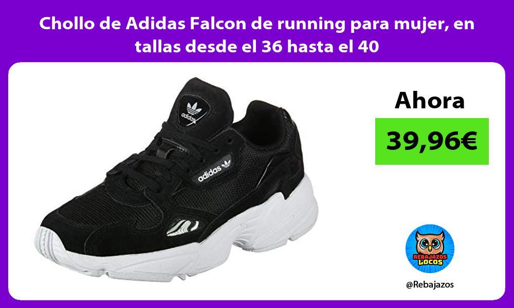 Chollo de Adidas Falcon de running para mujer en tallas desde el 36 hasta el 40