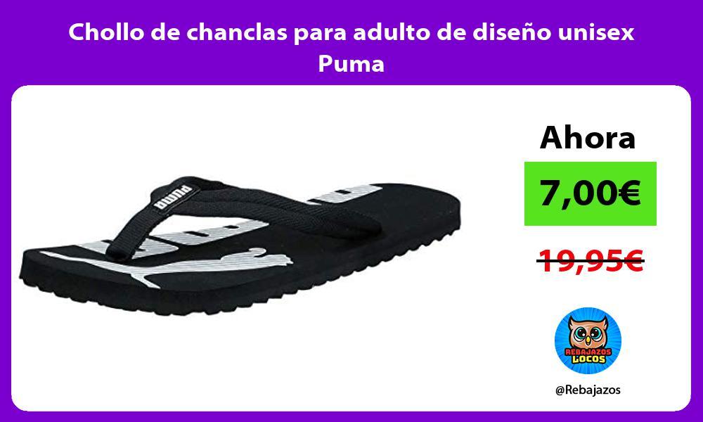 Chollo de chanclas para adulto de diseno unisex Puma