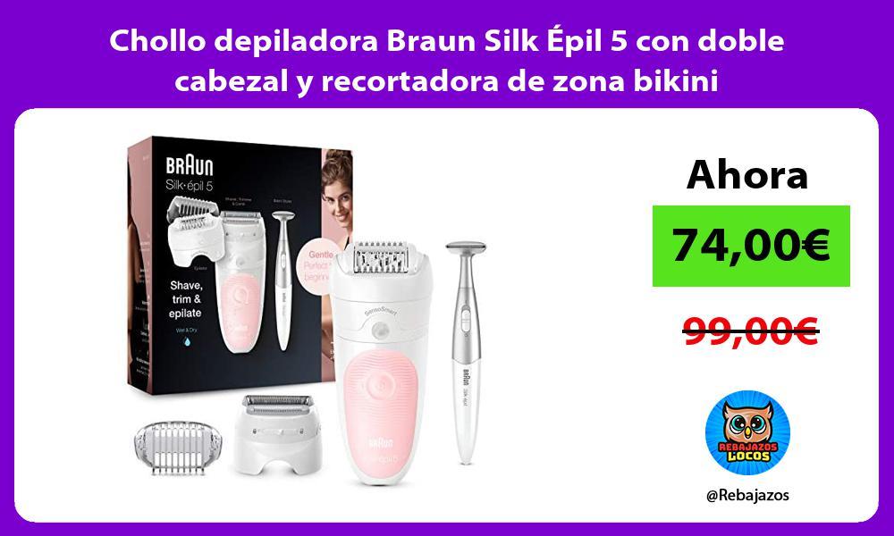 Chollo depiladora Braun Silk Epil 5 con doble cabezal y recortadora de zona bikini