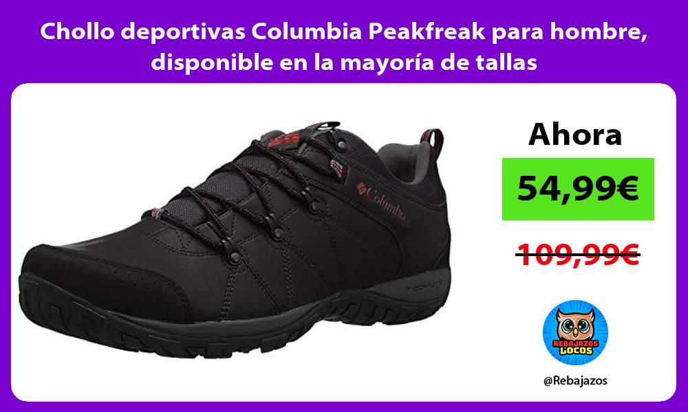 Chollo deportivas Columbia Peakfreak para hombre disponible en la mayoria de tallas