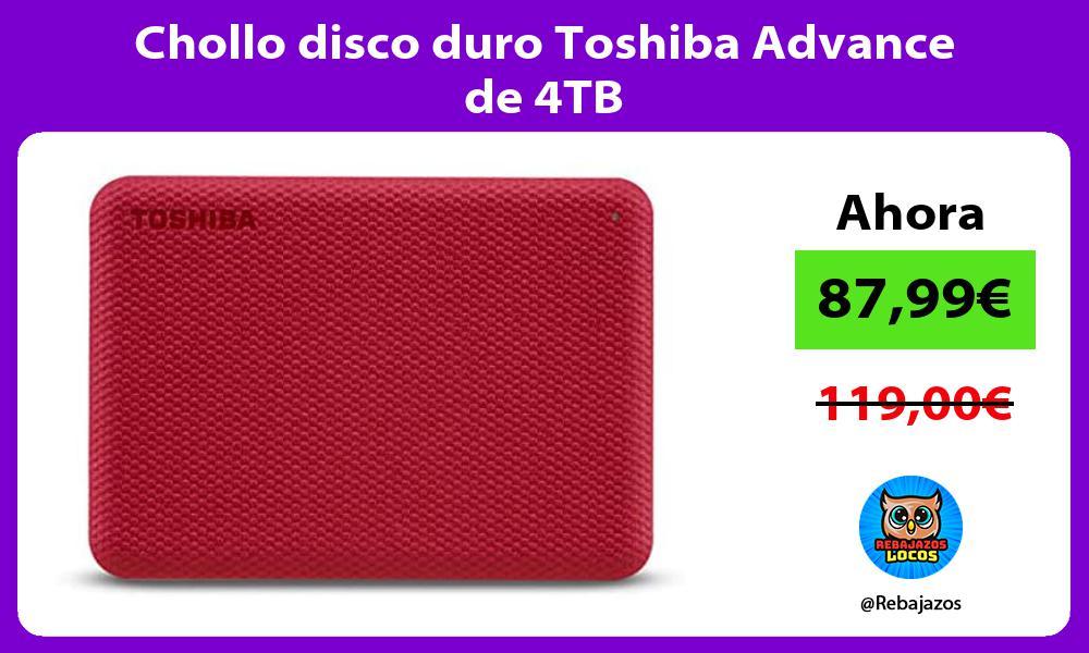 Chollo disco duro Toshiba Advance de 4TB
