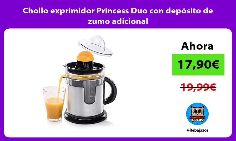 Chollo exprimidor Princess Duo con deposito de zumo adicional