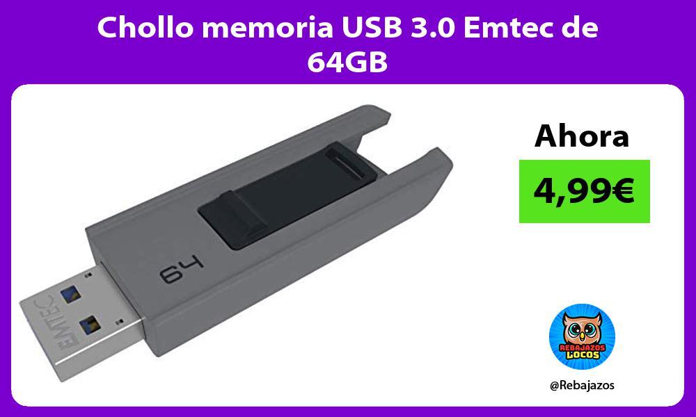 Chollo memoria USB 3 0 Emtec de 64GB