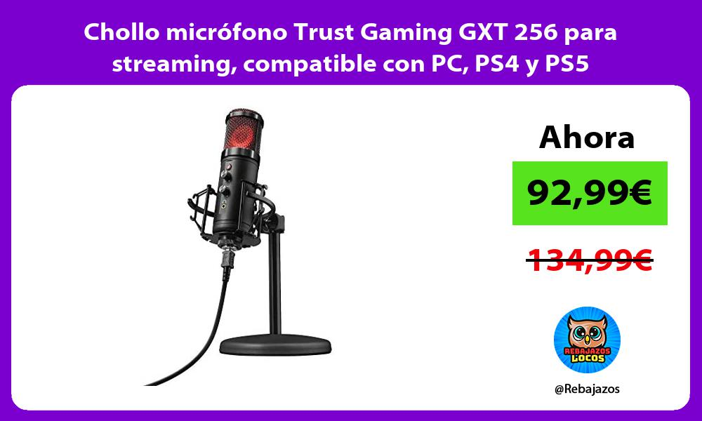 Chollo microfono Trust Gaming GXT 256 para streaming compatible con PC PS4 y PS5