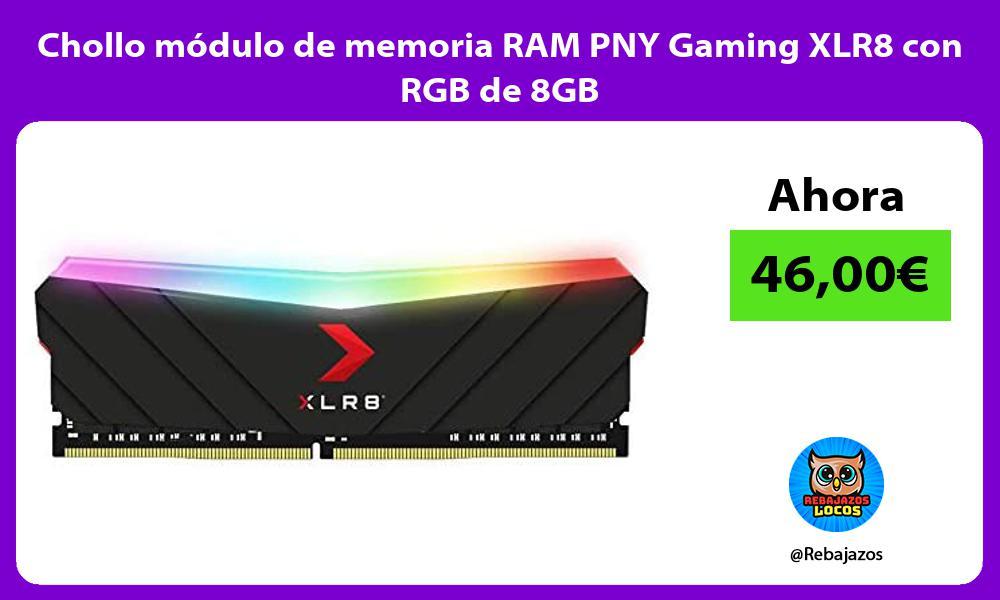 Chollo modulo de memoria RAM PNY Gaming XLR8 con RGB de 8GB