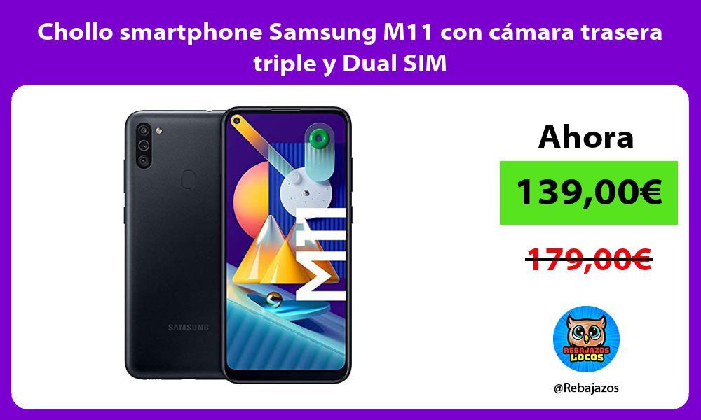 Chollo smartphone Samsung M11 con camara trasera triple y Dual SIM