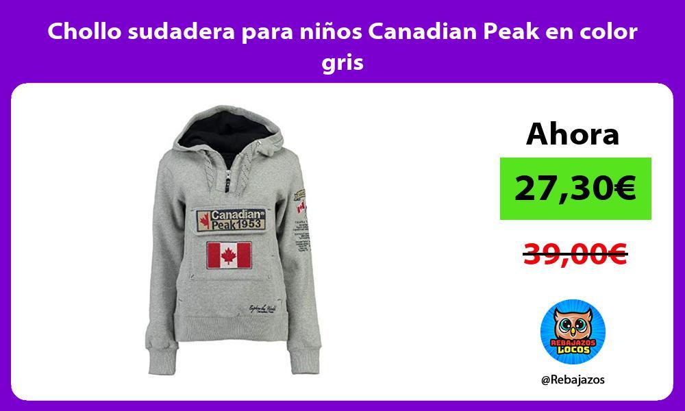 Chollo sudadera para ninos Canadian Peak en color gris