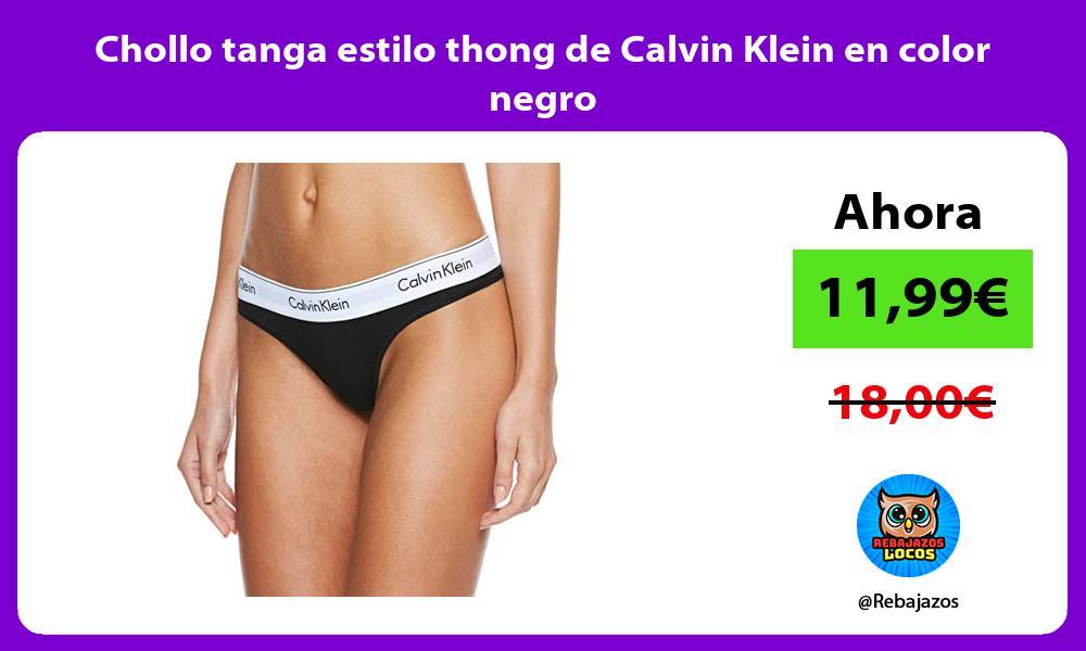 Chollo tanga estilo thong de Calvin Klein en color negro