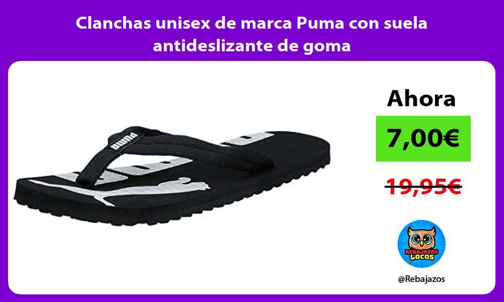 Clanchas unisex de marca Puma con suela antideslizante de goma