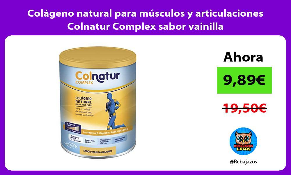 Colageno natural para musculos y articulaciones Colnatur Complex sabor vainilla