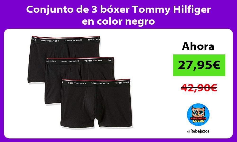 Conjunto de 3 boxer Tommy Hilfiger en color negro