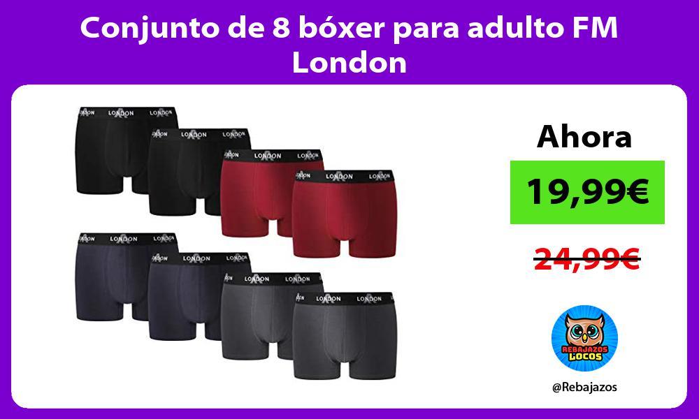 Conjunto de 8 boxer para adulto FM London
