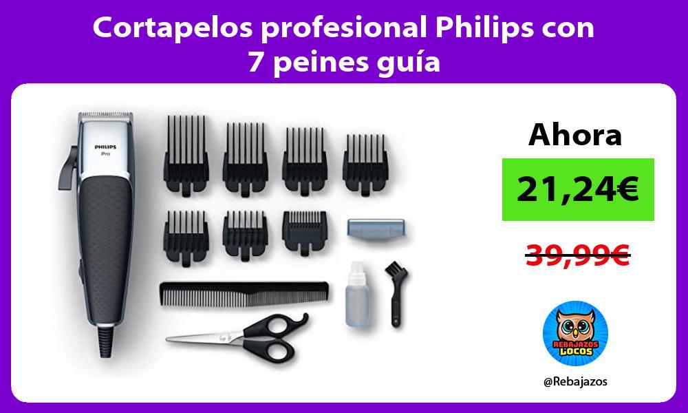 Cortapelos profesional Philips con 7 peines guia