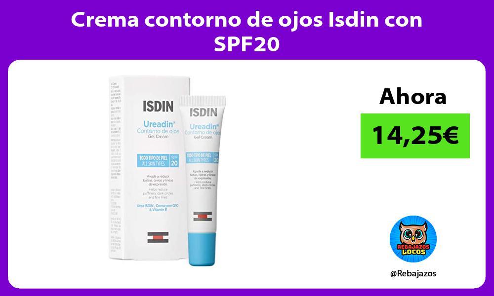 Crema contorno de ojos Isdin con SPF20
