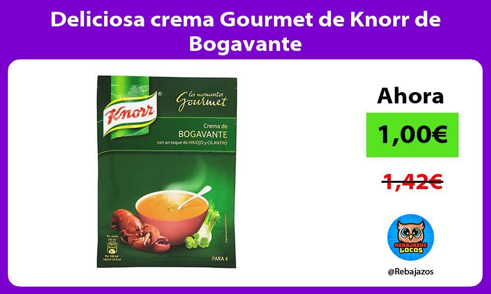 Deliciosa crema Gourmet de Knorr de Bogavante