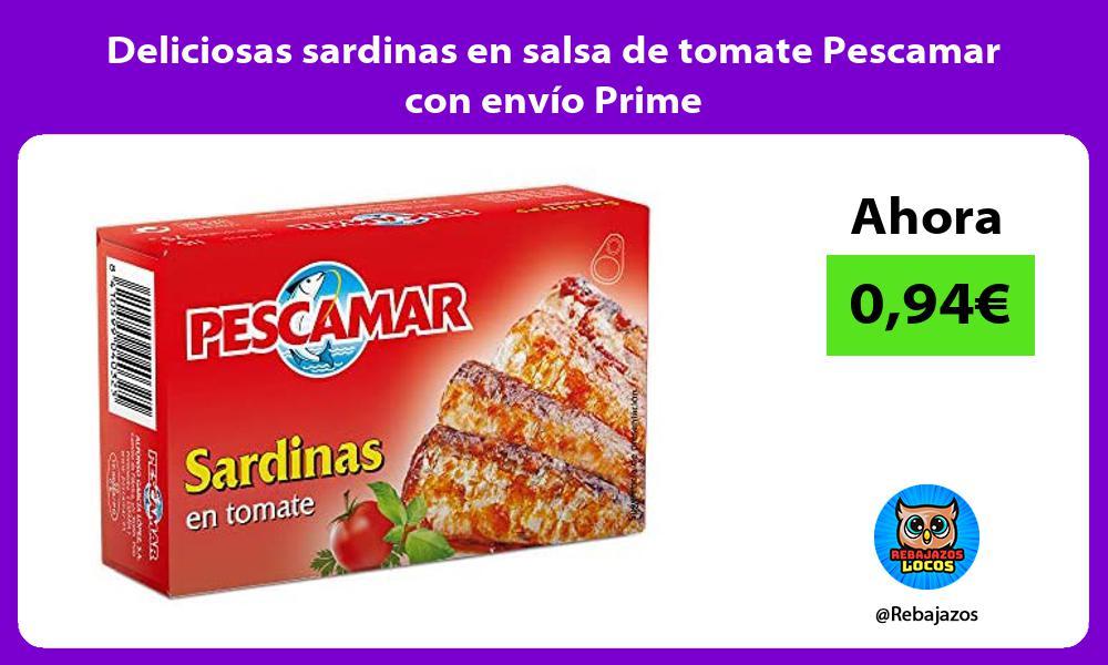 Deliciosas sardinas en salsa de tomate Pescamar con envio Prime