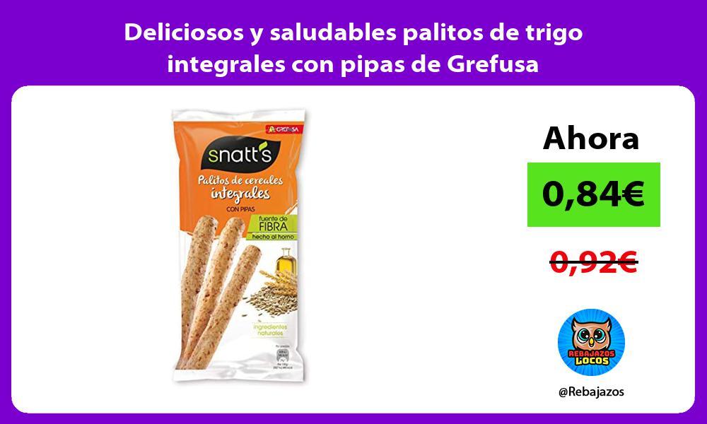 Deliciosos y saludables palitos de trigo integrales con pipas de Grefusa