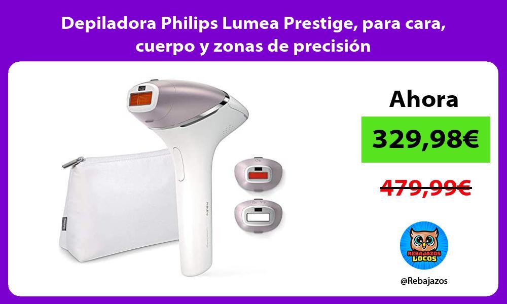 Depiladora Philips Lumea Prestige para cara cuerpo y zonas de precision