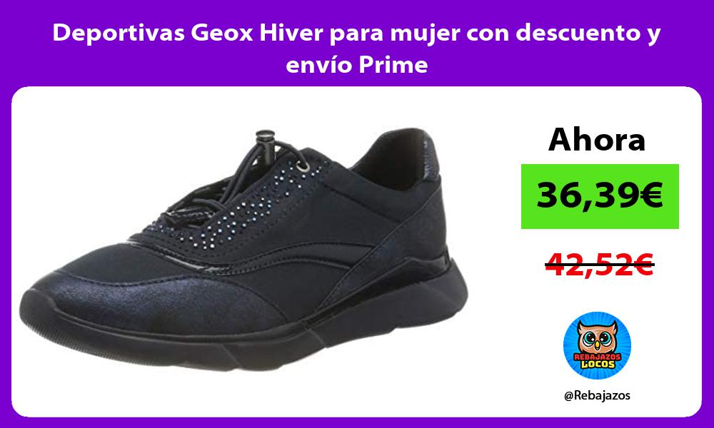 Deportivas Geox Hiver para mujer con descuento y envio Prime