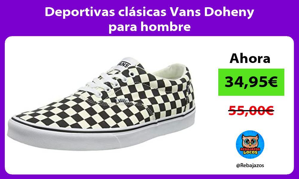 Deportivas clasicas Vans Doheny para hombre