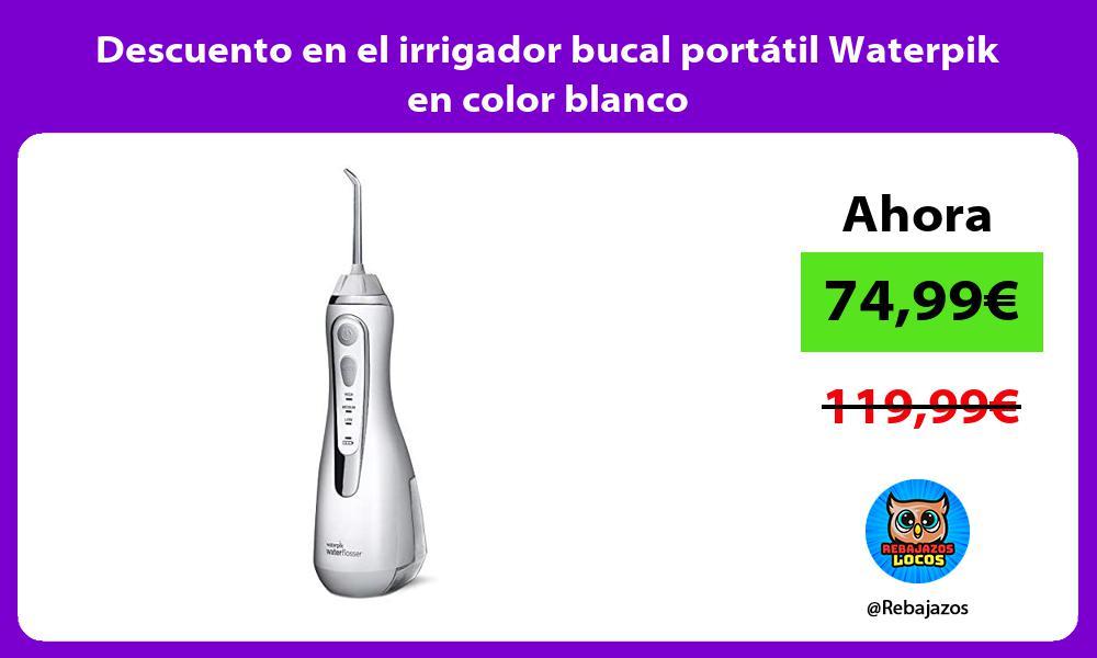 Descuento en el irrigador bucal portatil Waterpik en color blanco