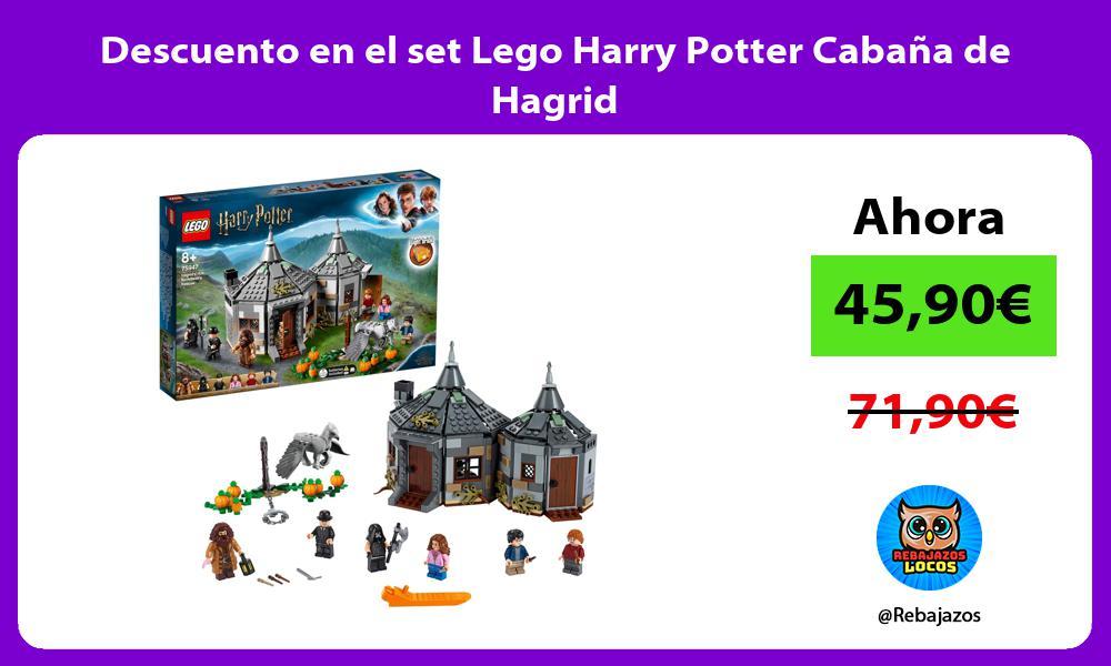 Descuento en el set Lego Harry Potter Cabana de Hagrid