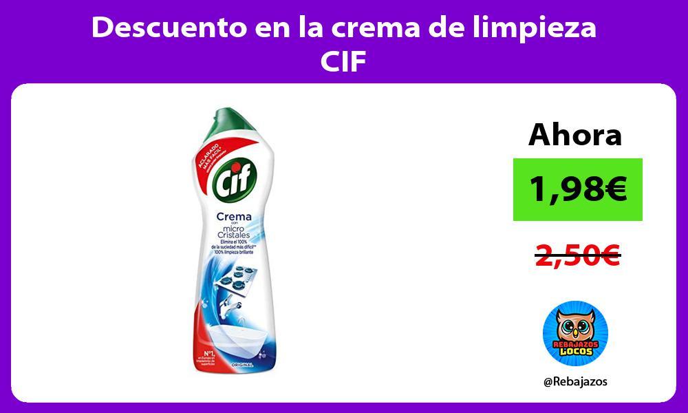 Descuento en la crema de limpieza CIF