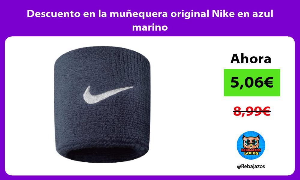 Descuento en la munequera original Nike en azul marino