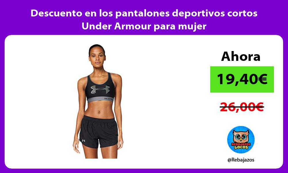 Descuento en los pantalones deportivos cortos Under Armour para mujer