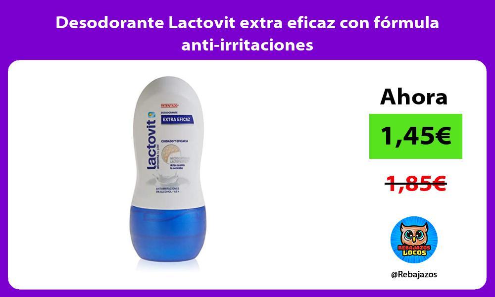Desodorante Lactovit extra eficaz con formula anti irritaciones