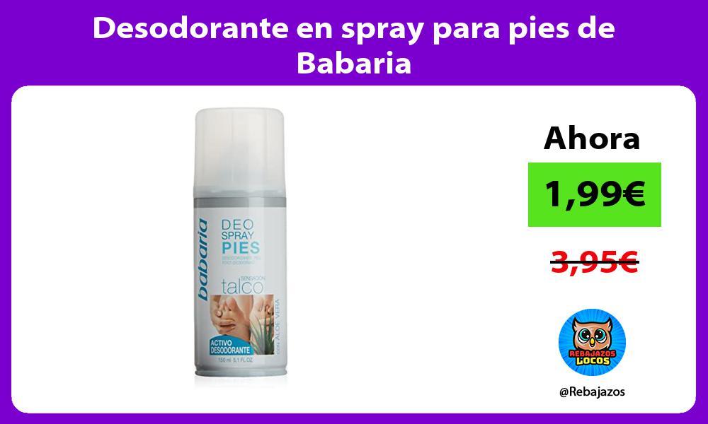 Desodorante en spray para pies de Babaria