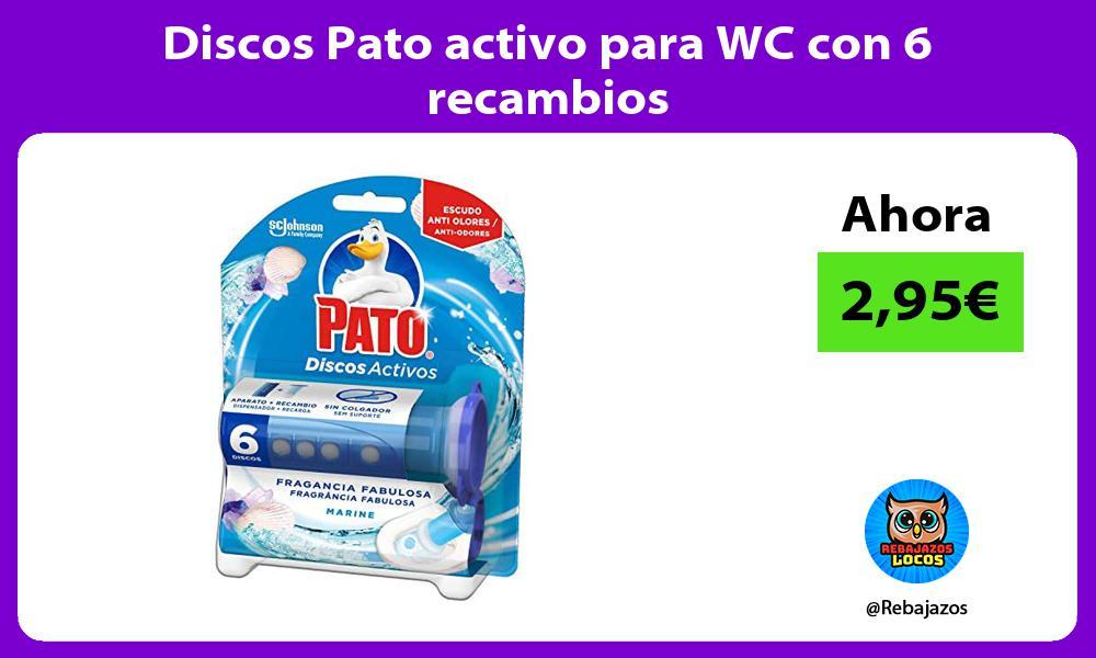 Discos Pato activo para WC con 6 recambios