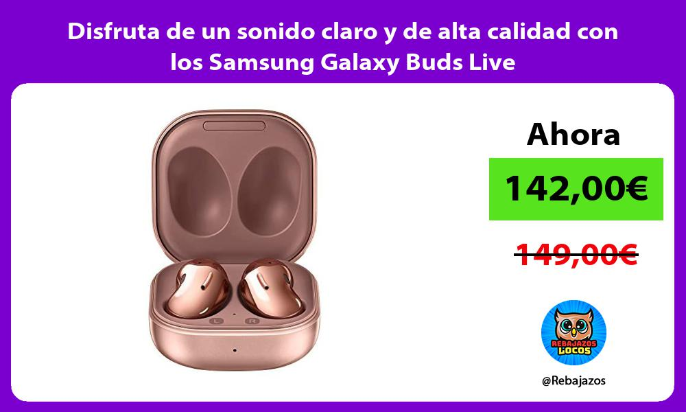 Disfruta de un sonido claro y de alta calidad con los Samsung Galaxy Buds Live