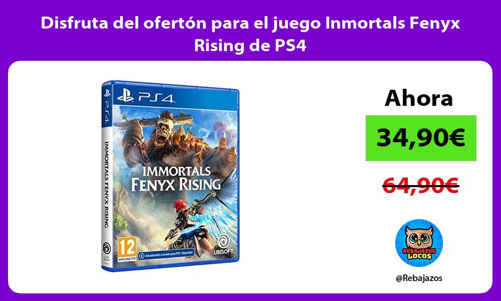 Disfruta del oferton para el juego Inmortals Fenyx Rising de PS4