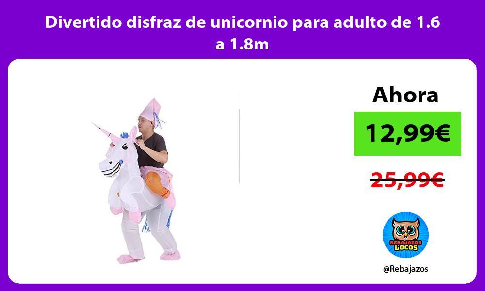 Divertido disfraz de unicornio para adulto de 1 6 a 1 8m