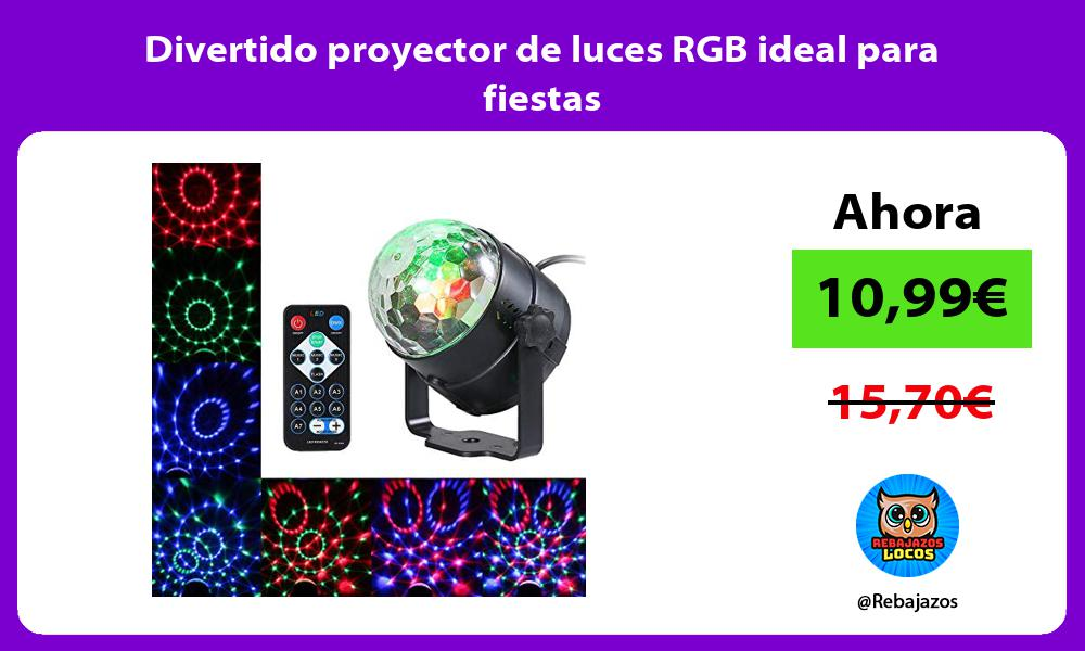 Divertido proyector de luces RGB ideal para fiestas