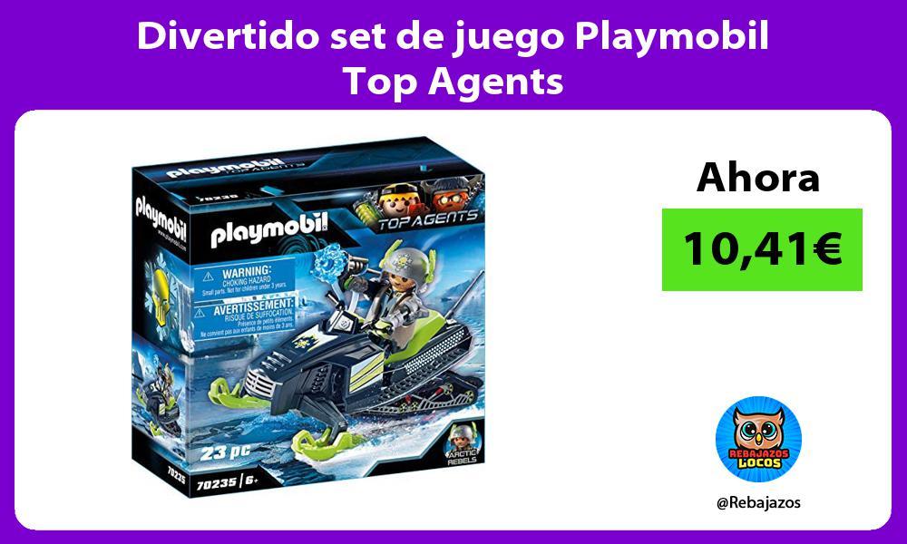Divertido set de juego Playmobil Top Agents