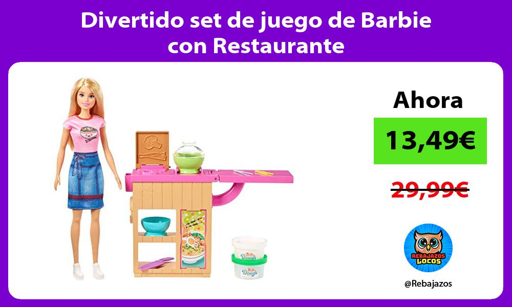 Divertido set de juego de Barbie con Restaurante