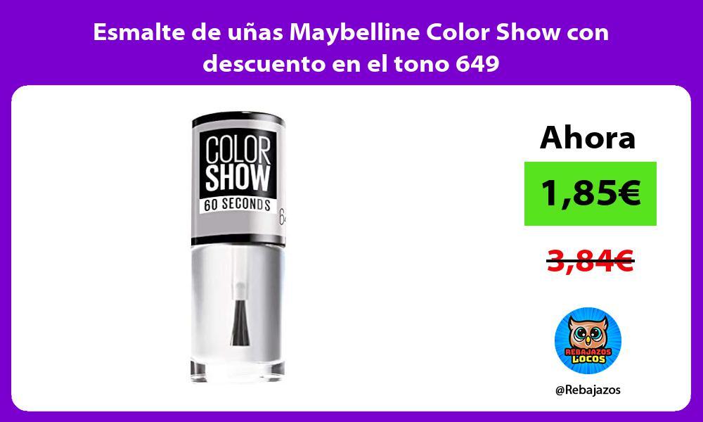 Esmalte de unas Maybelline Color Show con descuento en el tono 649